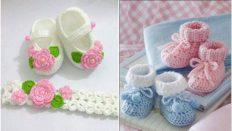 Yeni Doğan Bebek Patik Modelleri Yapılışı