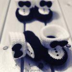 Erkek Bebekler İçin Papyon Patik Yapılışı 1