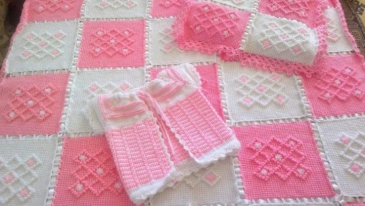 Tığ İşi Bebek Battaniyesi Örgü Modelleri
