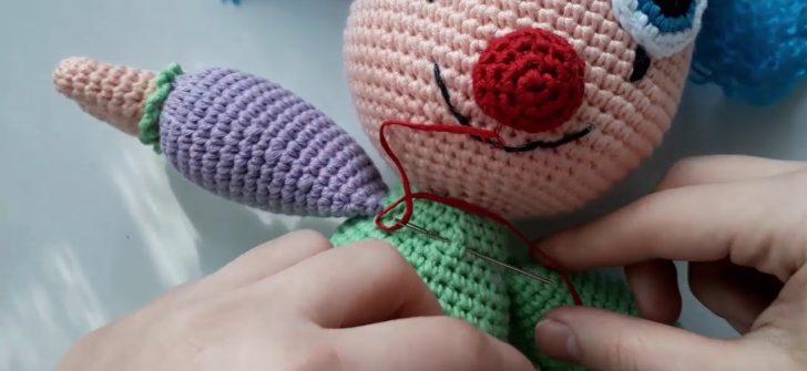 Kız Palyaço Amigurumi Oyuncak Yapılışı