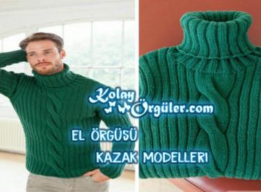 El Örgüsü Erkek Kazak Modelleri