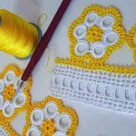 Halkalı Çiçekli Tığ Oyası Yapılışı Ve Yeni Havlu Kenarı Dantelleri 2019