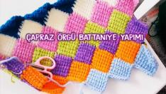 Çapraz Örgü Battaniye Yapımı