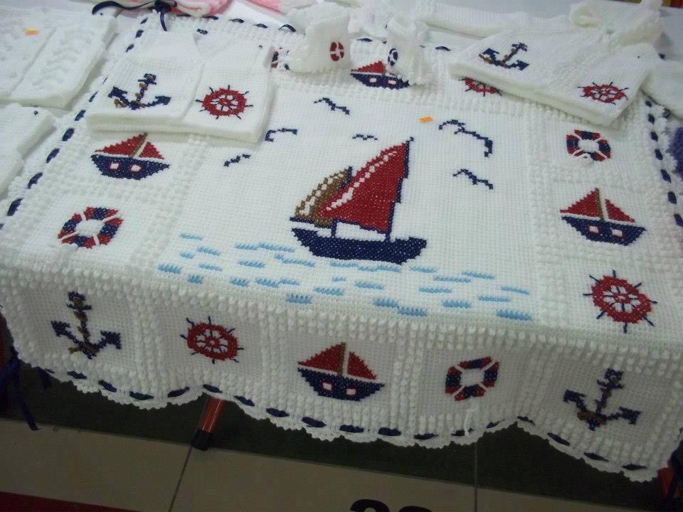 denizci bebek battaniyesi modeli