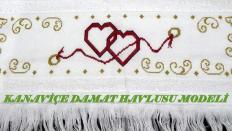 Etamin Kanaviçe Damat Havlusu Modeli Şablonlu Anlatım