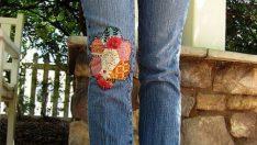 Kanaviçe İle Kot Pantolon Süsleme