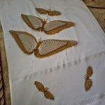 Havlu kenarı kelebek modeli