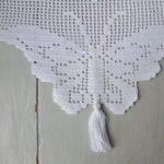 Havlu kenarı kelebek model