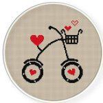 Aşk bisikleti kanavice panoları