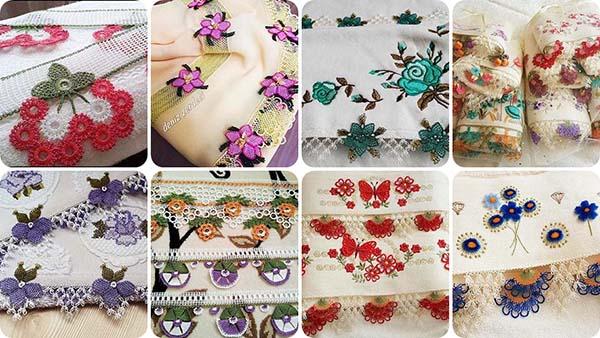 Minik çiçekli havlu kenarı yapımı