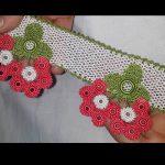 Çiçekli havlu kenarı yapımı