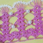 İnci boncuklu havlu kenarı yapımı