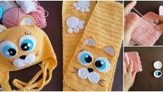 Üç Renkli Kız Bebek Atkısı Yapımı