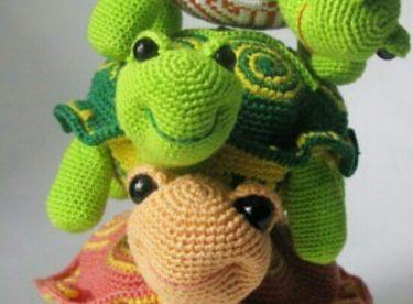Amigurumi Sevimli Kaplumbağa Yapılışı