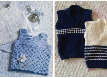 Mavi Renkli Kalın Çocuk Örgü Süveter Modeli