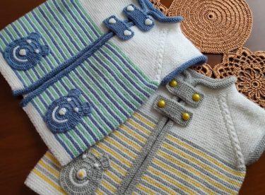 Düğme Detaylı Bebek Hırka Modeli