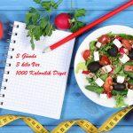3 Günde 3 kilo Ver 1000 Kalorilik Diyet