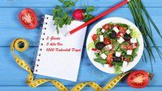 3 Günde 3 kilo Verdiren 1000 Kalorilik Diyet