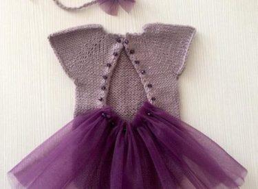 Örgü Tütülü Kız Bebek Elbise Yapımı