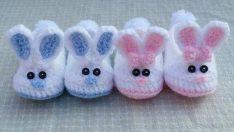 Tavşan Bebek Patik Yapımı