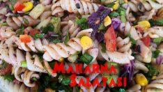 Evde Bol Malzemeli Makarna Salatası Yapılışı