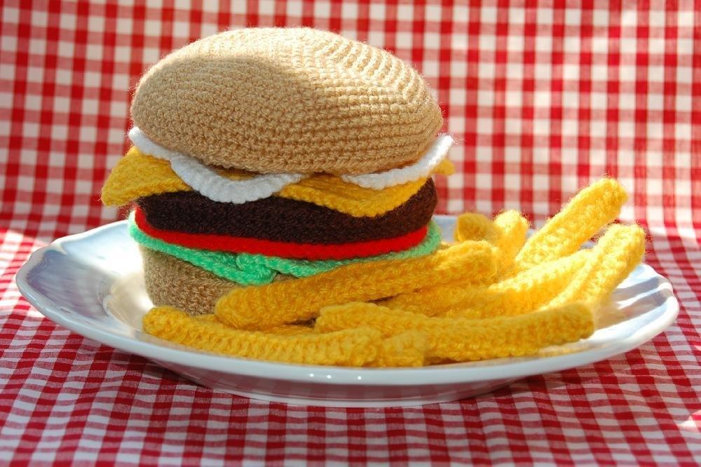 Basit Amigurumi Hamburger Yapı Mı